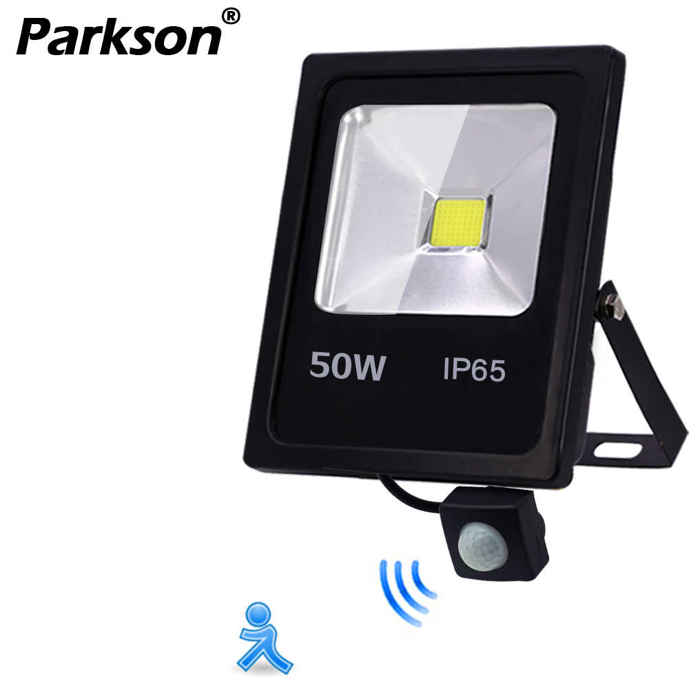 Motion Sensor IP65 Waterproof LED Flood Light 50W 30W 10W Reflector Floodlight Lamp AC 220V foco Led Exterior Outdoor Spot Light