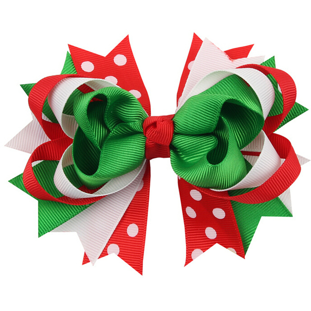 100pcs Grosgrain Ribbon Christmas Hair Bow With Clip Boutique Christmas Hair  Bow Free Shipping 94577325925