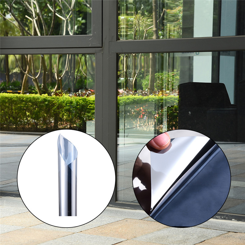 60x500cm glass film for windows Sun-proof Heat Insulation film mirror Anti-burst self adhesive film window protective film