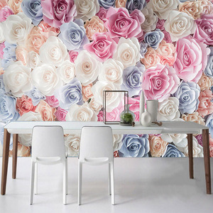 Photo Wallpaper Modern Romantic Flower Sea Flower Mural Living Room Bedroom Wedding House Backdrop Wall Home Decor Wall Paper 3D(China)