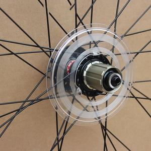 1PC Clear Plastic MTB Mountain Bike Road Bicycle Flywheel Support Disc Brake Cassette Hubs Protection Cover Bicycle Accessories(China)