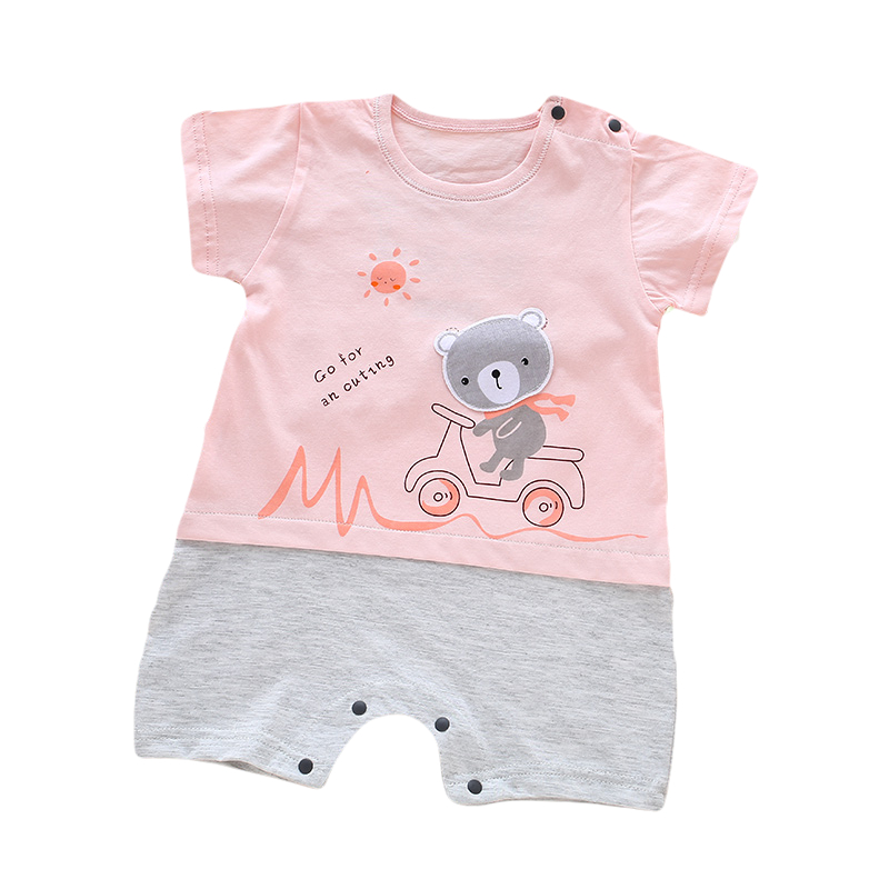 Summer Baby Rompers Cartoon bear cotton Baby Boy Girl Clothing Newborn Infant Short Sleeve Clothes Bebe De for 0-12 baby
