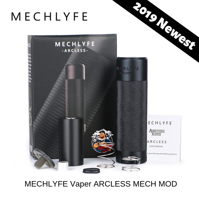 MECHLYFE X AmbitionZ VapeR ARCLESS MECH MOD Fit 18650/20700/21700 Battery MECHLYFE ARCLESS Vs CoilART Mage/ VGOD Elite MECH MOD