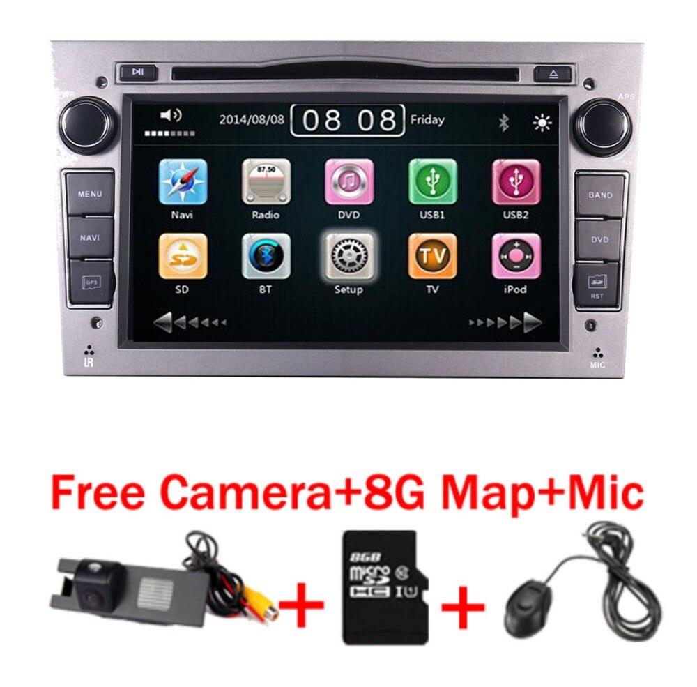 2 Din Voiture Lecteur DVD Pour Opel Astra Vectra Antara Zafira Corsa GPS Navigation Radio Audio Vidéo USB SD Directeur contrôle de roue