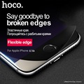 Hoco 3d macio borda 9 h dureza vidro temperado film para iphone 6 protetor de tela nano revestido 0.25mm ultrafinos para apple iphone 6 s