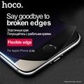 Hoco 3d soft edge 9 h dureza templado cinta cristal para iphone 6 protector de pantalla nano recubierto 0.25mm ultrafino para apple iphone 6 s