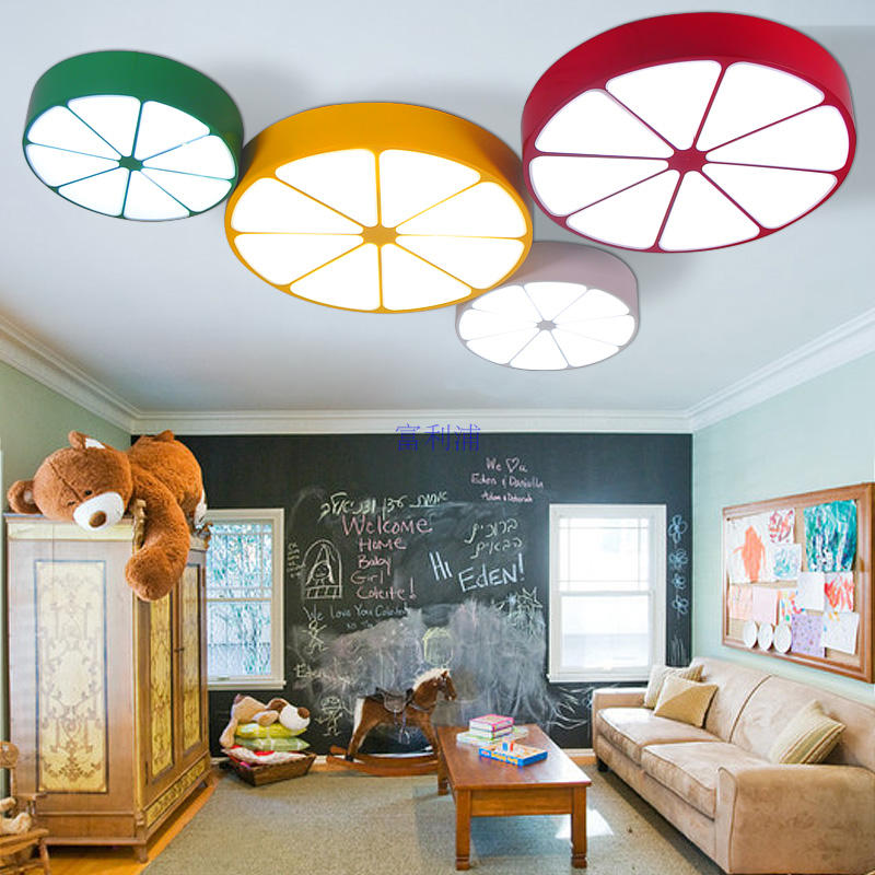 US $150.0  Kreative persönlichkeit farbe orange zitrone cartoon licht LED  kinderzimmer junge mädchen kinderzimmer wohnzimmer schlafzimmer ...