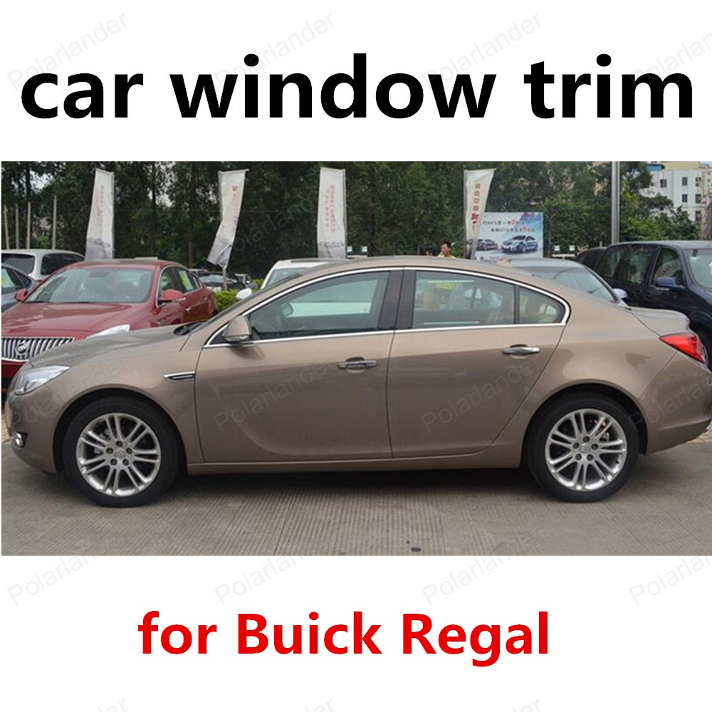 цена на new! Stainless Steel Car Styling Window Trim For new Buick Regal decorative Accessory