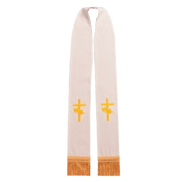 1pc Pastor Reversible Stole Catholic Church Priest Vestments' Embroidered Stole