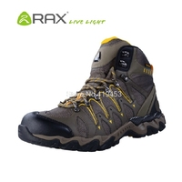 Rax Brand Outdoor Sport Hiking Shoes Climbing Waterproof Non Slip Breathable Shoes Men Wearable High Top Trekking Shoes D0535