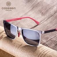 COLOSSEIN Orange Label Fashion Sunglasses Metal Frame Carbon Arm Polarized Lens For Men