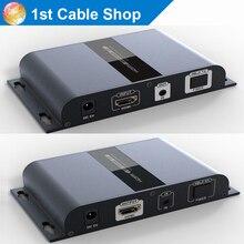 HTbitT HDMI удлинитель волоконно-оптический кабель с ИК IP и TCP на основе до 20 км full HD1080P(только приемник
