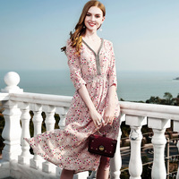100% silk bohemian dress