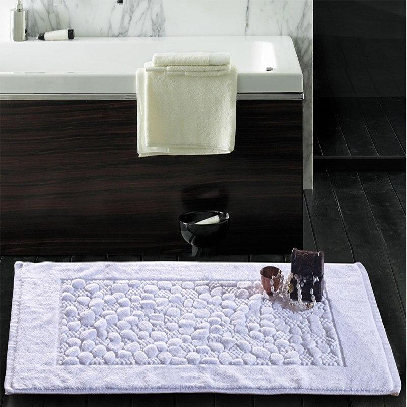Haute qualité hôtel 100% coton tapis de bain tapis de bain horizontale tapis antidérapant tapis paillasson tapis de coton Super absorbant