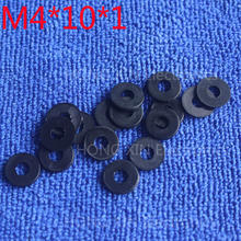 M4*10*1 1pcs Black Nylon Washer Plastic Flat Spacer Washer Thickness circular  round Gasket Ring High Quality circular