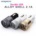 12V 2.1A&1A Aluminum 2 USB Ports Universal Dual USB Car Charger For iPhone 5 6 6 plus For ipad 2 3 4 5 For Samsung Galaxy S4 S5