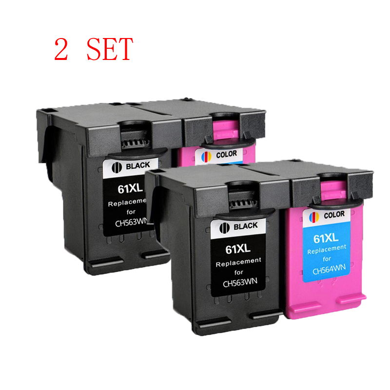 2 Set For HP 61XL hp 61 ink Cartride for hp61 Ink Cartridge Deskjet 1000 1050 2000 2050 3000 3050 J410a J510a 2510 2512 514 2540