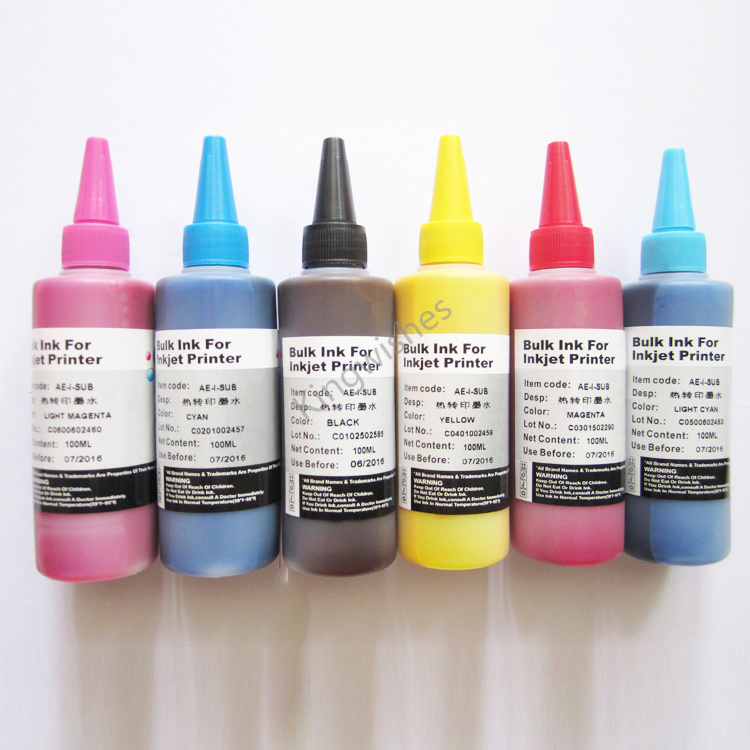 ФОТО Europe Model T2431-T2436 6 Color 100ML Sublimation Ink For Epson XP-850