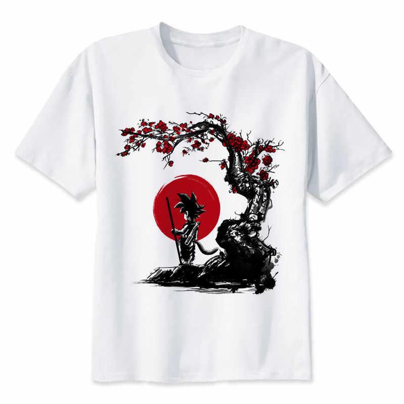 Новое поступление для костюмированной вечеринки по японскому аниме «Драконий жемчуг зет футболка сын футболка Goku короткий рукав с О-образным вырезом Футболка супер сайян, «Жемчуг дракона футболка для Для мужчин/wo Для мужчин