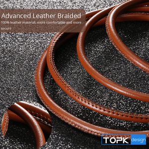 Image 3 - TOPK [5 Pack] Micro USB Cable PU Leather Metal Plug Data Cable For Samsung S7 edge Xiaomi Redmi 4X