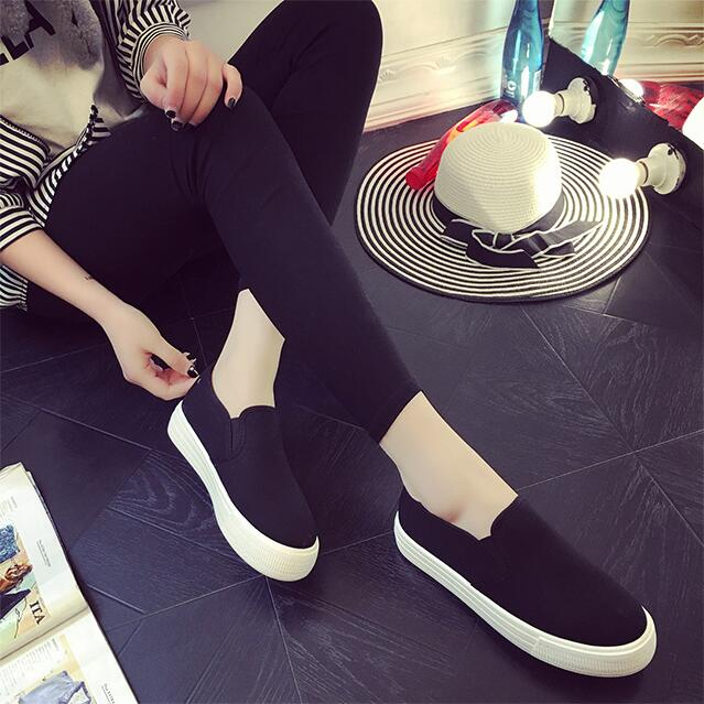 2016 High Platform Canvas Women Shoe Casual White Sneakers For Women Flat Shoes Ladies Espadrilles Loafers Zapatos Mujer uovo brand kids spring autumn new sport shoes for girls green color casual sneakers kids fashion canvas shoe zapatos eu 30 37