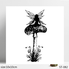 ZhuoAng Mushroom girl Clear Stamp  Seal for DIY Scrapbooking Photo Album Card Making Decoration Supply