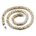 18 K gold Korean Short Chain Necklace stainless steel men's jewelry chain clavicle