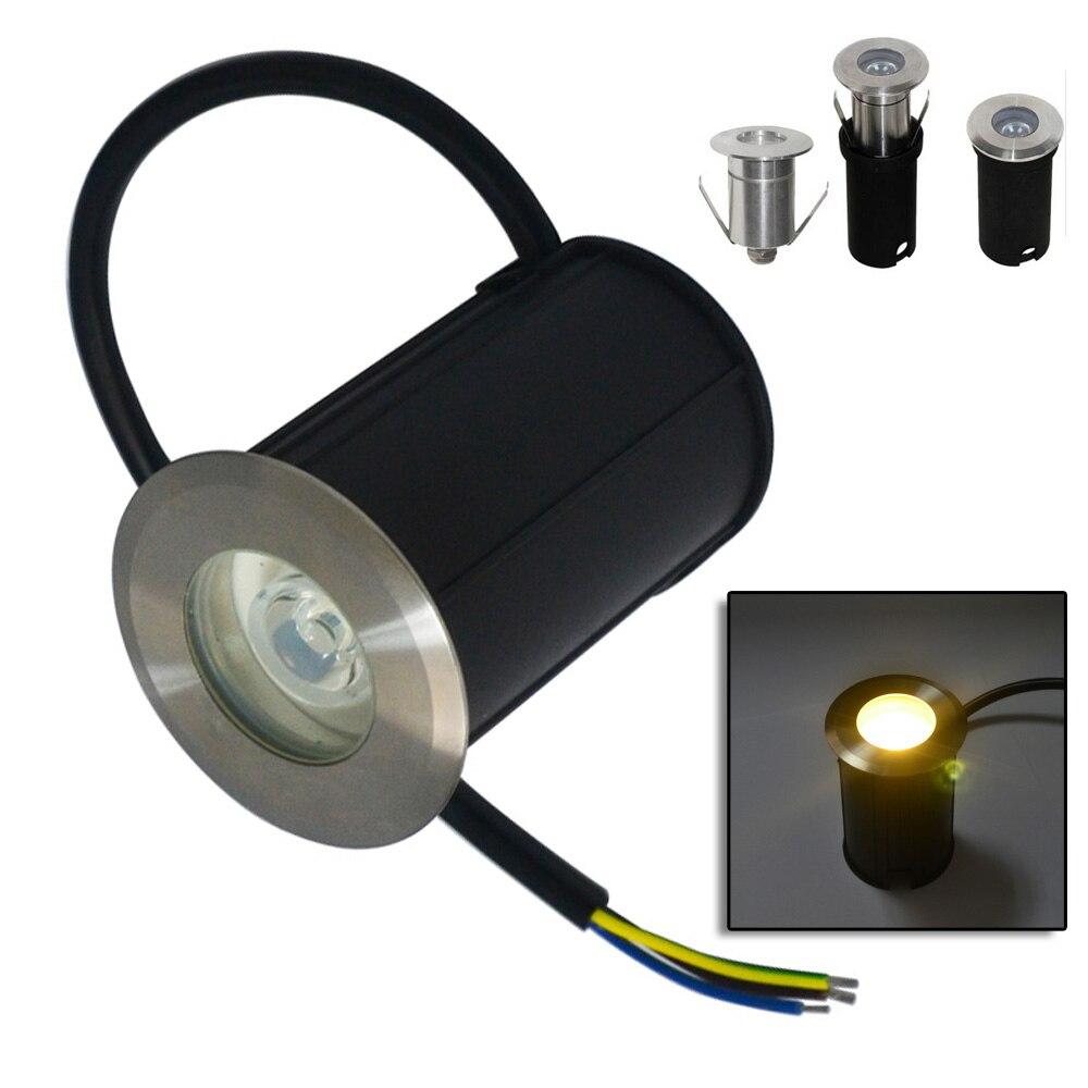 Jiawen 6pcs/lot 1w Led Outdoor Ground Garden Path Floor Underground Yard Lamp Led Lamps Lights & Lighting