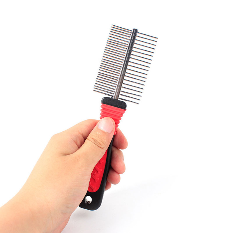 Pet Hair Removal Comb For Long Short Haired Dog Cats