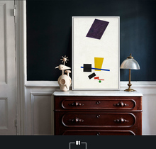 Fashion Wall Art Painting High Quality Abstract black and yellow Oil Hand-painted
