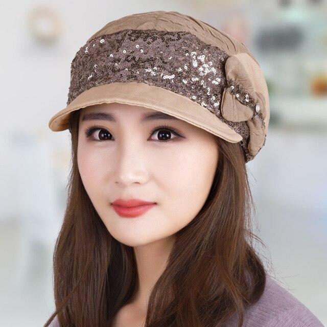 Cap hat женщин четыре сезона мода женский осень берет женский открытый случайный