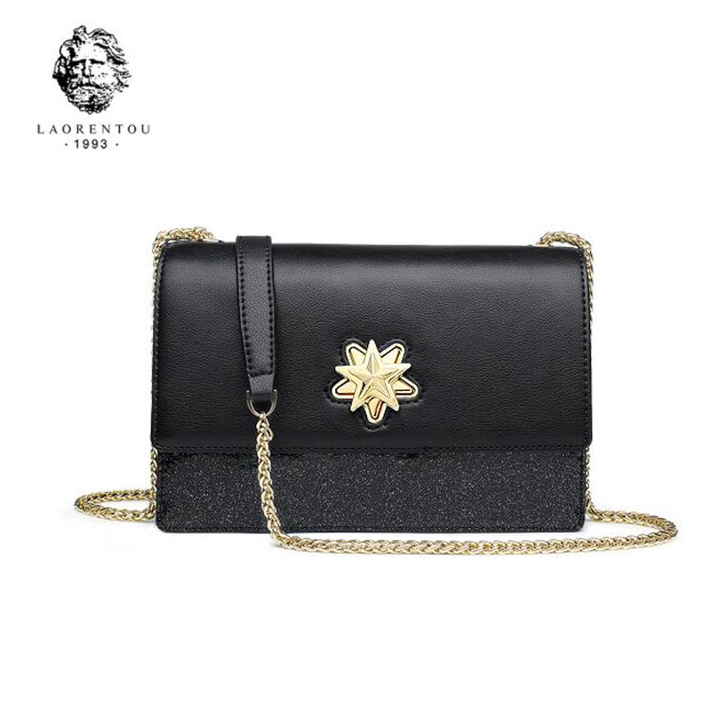LANRENTOU New women leather bag fashion luxury Chain small bags women handbags leather shoulder bag Handbags & Crossbody bags new fashion women leather handbags 2017 luxury designer patchwork shoulder bags small crossbody bag with chain for women girls