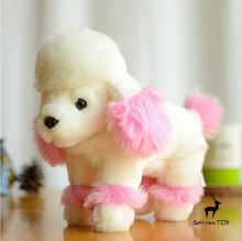 Super Kawaii Simulation Poodle  Doll  Plush  dogs stuffed  animals kids Toys  Christmas Gift