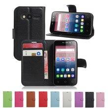 Лидер продаж, кошелек в стиле из искусственной кожи чехол для Alcatel One Touch 4034D Pixi 4 4,0 защитный флип-чехол для телефона 4034