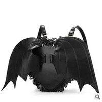 Female bag bat wings backpack heart shaped Ms. bag creative