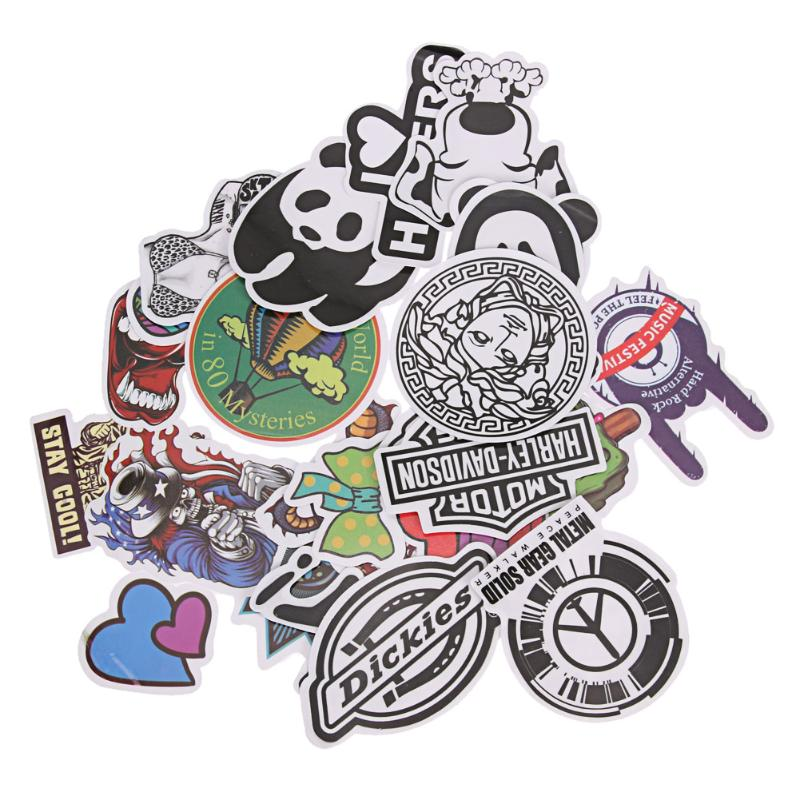 25Pcs Doodle Design Stickers Decals Cute Cartoon Graffiti Waterproof Suitcase Laptop Bicycle Car DIY Decoration Stickers
