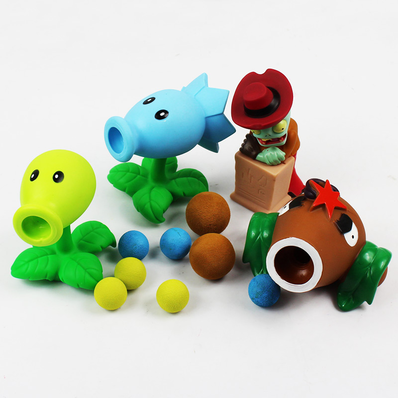 2015 New PVZ Plants vs Zombies Peashooter PVC Action Toy Figures Model Children Toys Gifts High Quality Brinquedos image