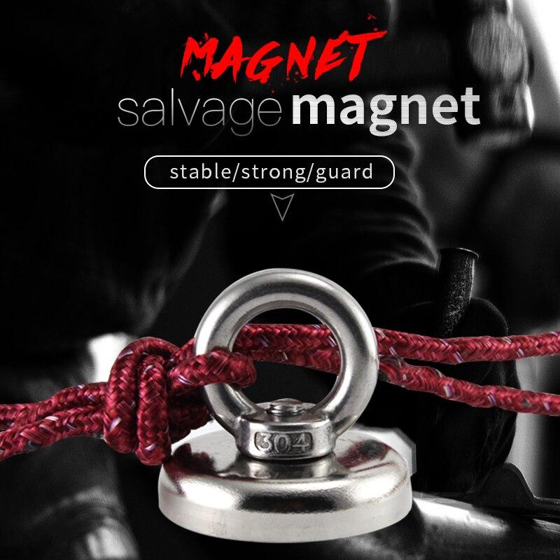 2 stücke super starke D36mm D42mm D48mm D60mm salvage magneten angeln magnet tiefe meer halter topf magneten