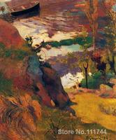 paintings of Paul Gauguin Fisherman and bathers on the Aven artwork Landscape art High quality Hand painted