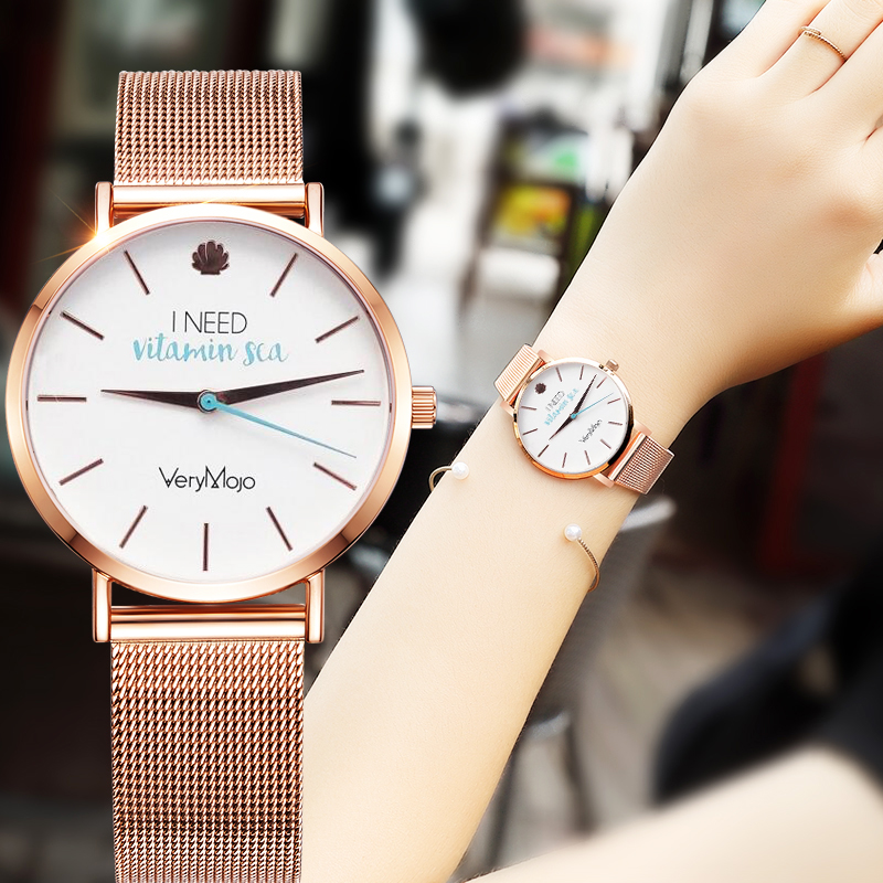 VeryMojo Fashion Rose Gold Women Watch Minimalism Simple Stylish Luxury Casual lady Watches Waterproof Dress Wristwatch for Fema