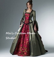 Custom Made 18th Century McCall's Western Bustle Ball Gown / French Renaissance Gown/Vintage Dress/Costume Dress
