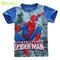 KEAIYOUHUO Kids Boys T Shirt Boy Spiderman Cartoon Printed Tees & Tops 2017 Summer Children Short-Sleeved T-shirts Boys Clothes
