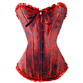Hot Plus Size Black Sleepwear Sexy Women Lace Tops Bustier Lingerie Overbust Corset Dresses