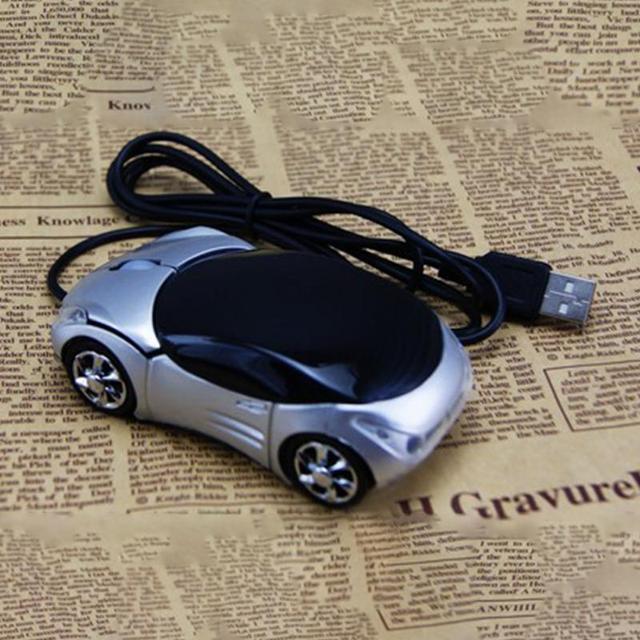 1600 DPI Mini Car shape USB quang có dây chuột sáng tạo 2 đèn pha chuột cho máy tính để bàn máy tính xách tay Chuột Brand new