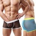New Arrival Men Sexy Breathable Mesh See Through Boxer Shorts Elastic Waist Underwear