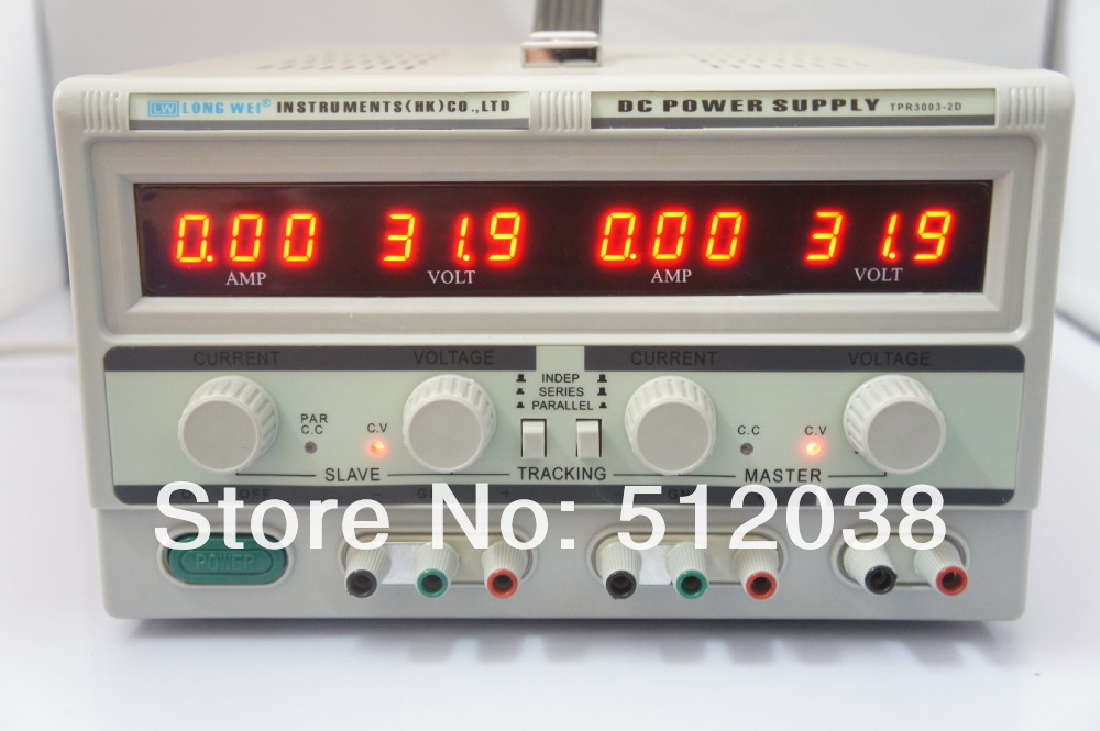 Longwei TPR-3003-2D dual digital display adjustable DC power supply ( 2*0-30V/2*0-3A with 5V/3A fixed output) four digit display rps3003c 2 adjustable dc power supply 30v 3a linear power supply repair