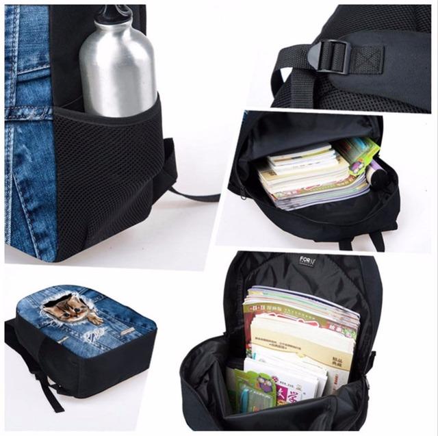 FORUDESIGNS Welcome Custom School Bags for Boys Satchel Schoolbag School Backpack for Girls Children Orthopedic Students Bookbag