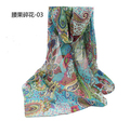 Женщины в большие длинная богема springautumn шифон шарф женское леди зеленый платки пашмина шарфы 160 * 60 см