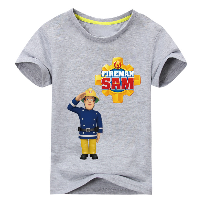 2017-Children-New-Cartoon-Design-Printing-100Cotton-T-shirts-Boy-Girls-Sam-Pattern-White-Tee-Tops-Clothes-Kids-Clothing-TP016-5