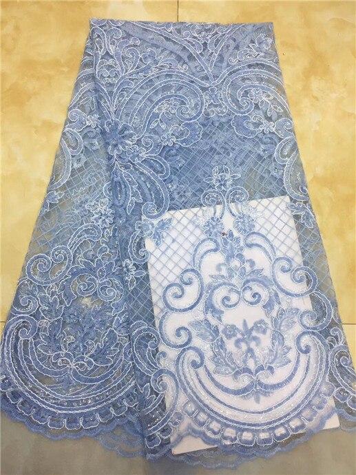 Incroyable paillettes tissu en dentelle Nigérian tissu blanc qualité supérieure Africain tulle dentelle Paillettes tissu pour robes de soirée (XZS-4-19